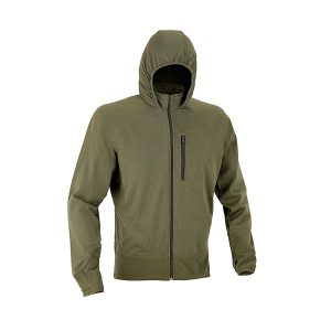 Defcon5 Combat Fleece Full Zip Groen Capuchon